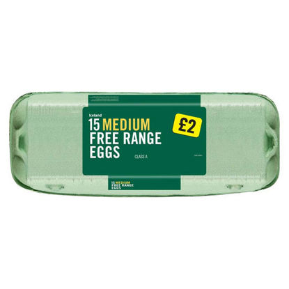 Picture of Iceland 15 Medium Free Range Eggs