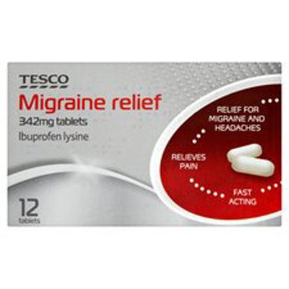 Picture of Tesco Migraine Relief 342Mg 12S