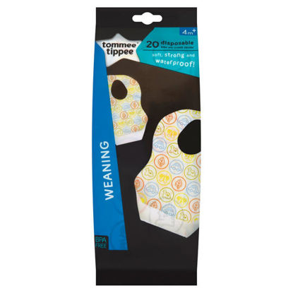 Picture of Tommee Tippee Explora Disposable Bibs X20