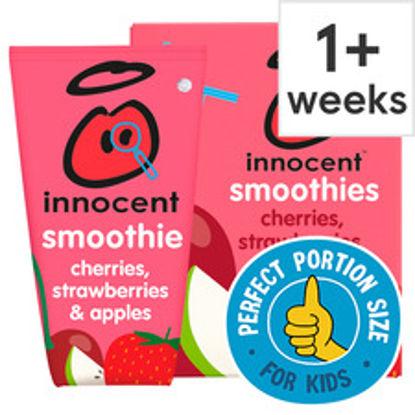 Picture of Innocent Kids Smoothie Cherries Strawberries 4X150ml
