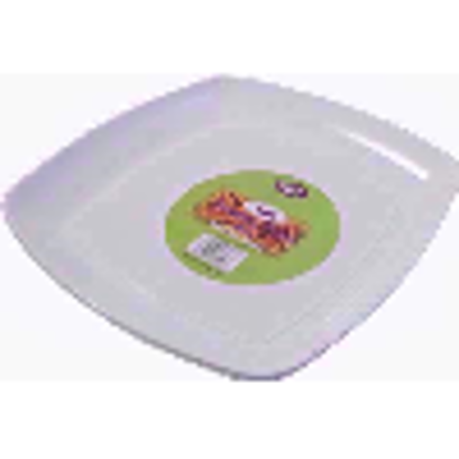 Picture of PPS PLASTIC SQ SERVING PLATE WHT 40CM