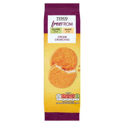 Picture of Tesco Free From Cream Crunchies 180G