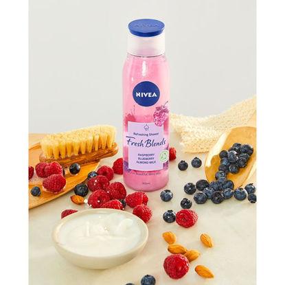 Picture of NIVEA Fresh Blends Raspberry & Blueberry Shower Gel 300ml
