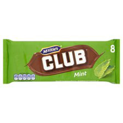 Picture of Mcvitie's Club Mint Chocolate Biscuit 8 Pack 176G