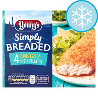 Picture of Youngs Simply Breaded Omega 3 4 Fish Fillets 400G