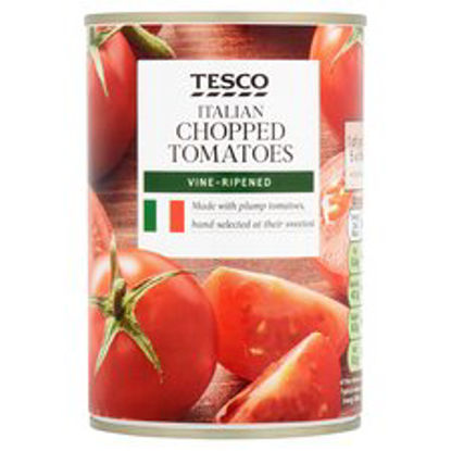 Picture of Tesco Italian Chopped Tomatoes 400G Ce