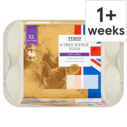 Picture of Tesco East Anglian Free Range Eggs Very Large 6 Pack