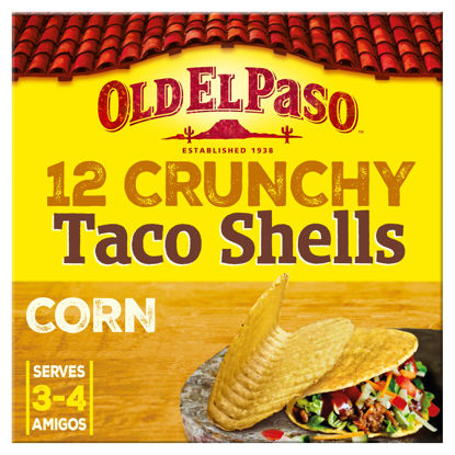 Picture of Old El Paso 12 Crunchy Taco Shells, 156g
