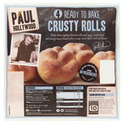 Picture of Paul Hollywood 4 Ready To Bake White Crusty Rolls