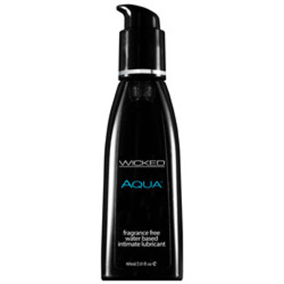 Picture of Wicked Aqua Fragrance Free Waterbase Lubricant 60mls