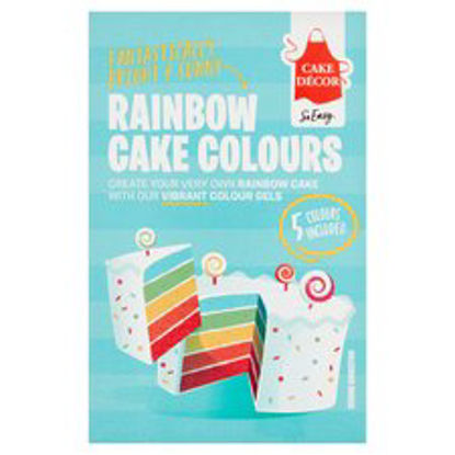 Picture of Cake Decor Rainbow Cake Colours Kit 50G