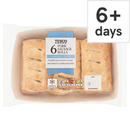 Picture of Tesco 6 Pack Sausage Rolls 360G