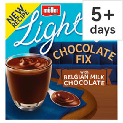 Picture of Muller Light Chocolate Fix Milk Chocolate 4 Pack 400G
