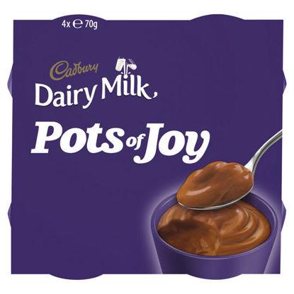 Picture of Cadbury Pots Of Joy 4 Pack Dairy Milk Chunk 4 X 70G