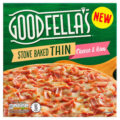 Picture of Goodfella's Stone Baked Thin Cheese & Ham 351g