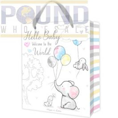 Picture of HUGS & KISSES BABY GIFT BAG