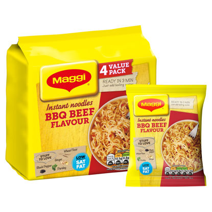 Picture of Maggi Instant Noodles BBQ Beef Flavour 4 x 59g