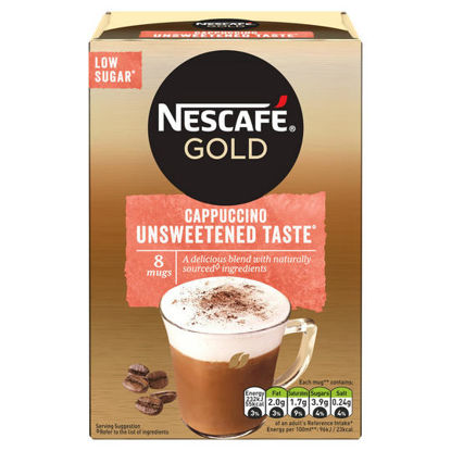 Picture of Nescafe Gold Cappuccino Unsweetened 8 Sachets 113.6G