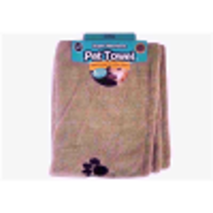 Picture of World of Pets Super Absorbent and Quick Dry Microfibre Pet Towel 100X60CM Beige