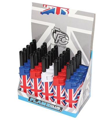 Picture of Flame Club Union Jack Utility Gas Reusable Lighter - Assorted Colours