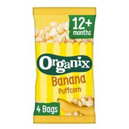 Picture of Organix Goodies Banana Puffcorn 4 X 10G
