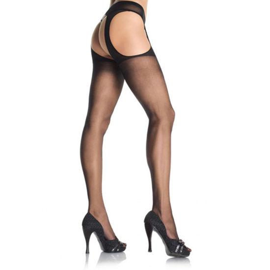 Picture of Leg Avenue Sheer Suspender Pantyhose-Black