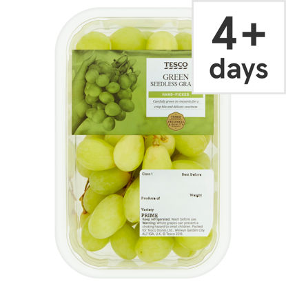 Picture of Tesco Green Seedless Grapes Punnet 500G