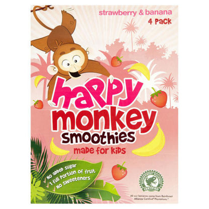 Picture of Happy Monkey Strawberries & Bananas 4 Pack