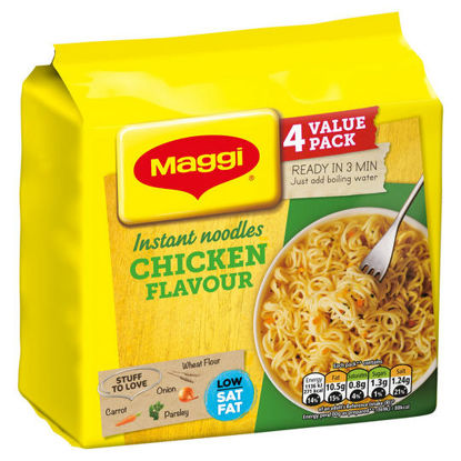 Picture of MAGGI 3 Minute Instant Chicken Flavour Noodles 4 x 59g