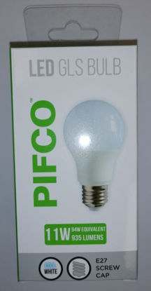 Picture of Pifco LED GLS Bulb - E27 Screw Cap - Cool White - 11W - 935 Lumens