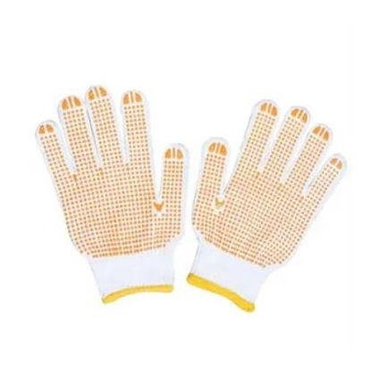 Picture of Easi Safe Work Wear PVC Polka Dot General Purpose Work Gloves - Yellow - Small