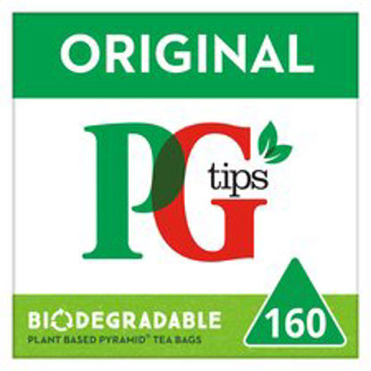 Picture of PG tips 160s Pyramid Teabags 464g (Pack of 4, Total 640 Teabags)