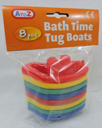 Picture of Bath Time Tug Boats - Assorted Colours - Pack Of 6