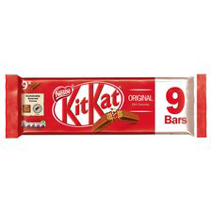 Picture of Kit Kat 2 Finger Milk Chocolate Biscuits 9 Pack 186.3G