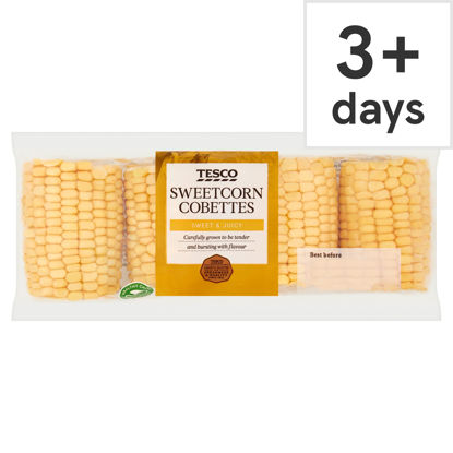 Picture of Tesco Sweetcorn Cobettes 4 Pack