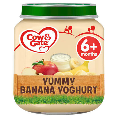 Picture of Cow & Gate Yummy Banana Yoghurt from 6 Months Onwards Baby Food Jar, 125 g