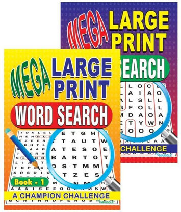 Picture of Mega Large Print Word Search Books -  0% VAT - Assorted Designs