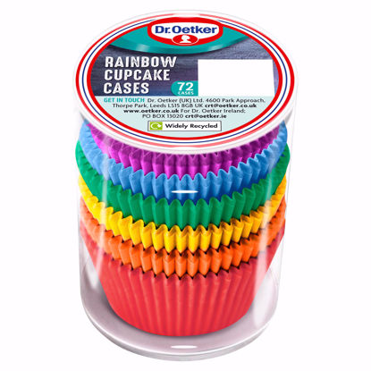 Picture of Dr Oetker Rainbow Cupcake Cases 72Pc