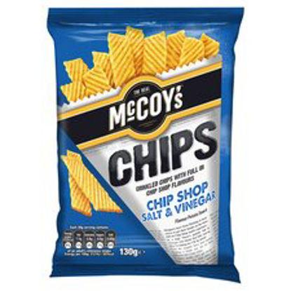 Picture of Mccoys Chip Shop Salt & Vinegar Crisps 130G