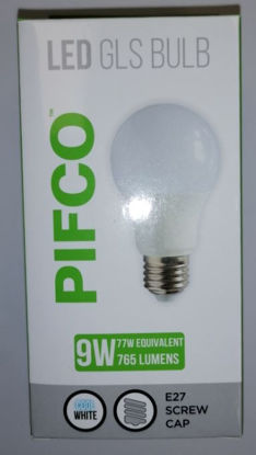 Picture of Pifco LED GLS Bulb - E27 Screw Cap - Cool White - 9W - 765 Lumens