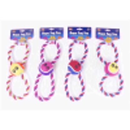 Picture of WORLD OF PETS TOY BALL ROPE FIGURE 8