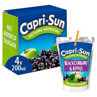 Picture of Capri Sun No Added Sugar Blackcurrant 4 X 200Ml