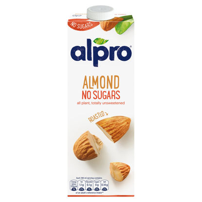 Picture of Alpro Almond No Sugars Roasted Long Life Drink 1L