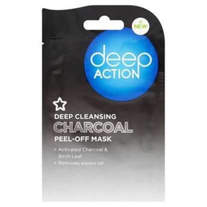 Picture of Superdrug Deep Action Charcoal Peel Off Mask 10ml