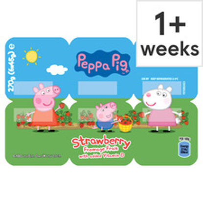 Picture of Peppa Pig Strawberry Fromage Frais 6X45g