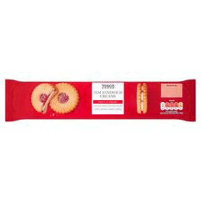 Picture of Tesco Jam Sandwich Creams Biscuit 150G