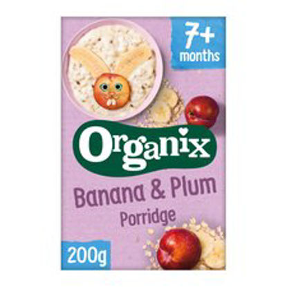 Picture of Organix Banana & Plum Porridge 200G