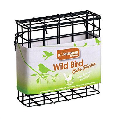 Picture of Kingfisher BF030 Green Suet Cake Bird Feeder - Grey