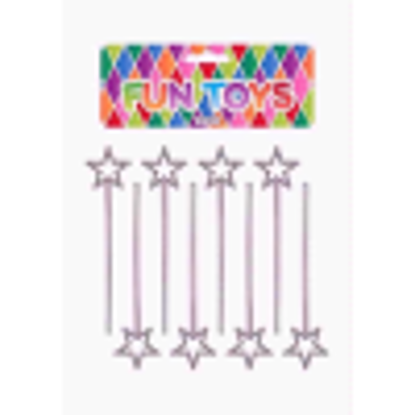 Picture of PARTY TIME FUN TOYS WAND SILVER 8PC