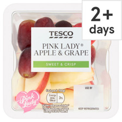 Picture of Tesco Pink Lady Apple & Grape Pot 100G